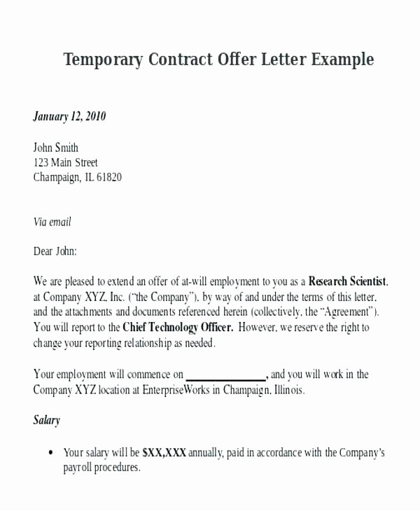 Temporary Employment Contract Template Fresh Temporary Job Contract Template – Flybymedia