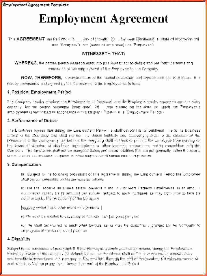 Temporary Employment Contract Template Unique Temporary Employment Contract Template Singapore Employee