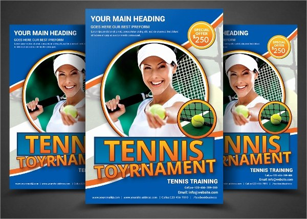 Tennis Flyer Template Free Awesome 16 Tennis Flyers Psd Ai Vector Eps