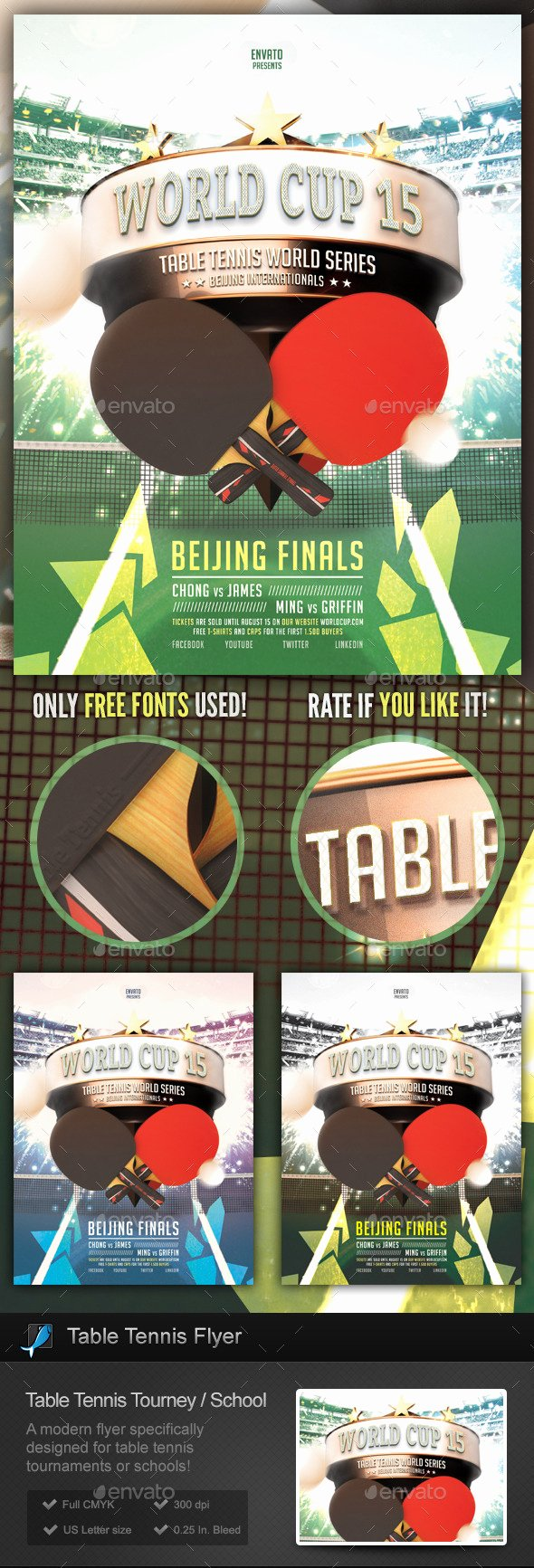 Tennis Flyer Template Free Beautiful Table Tennis tournament School Flyer On Behance