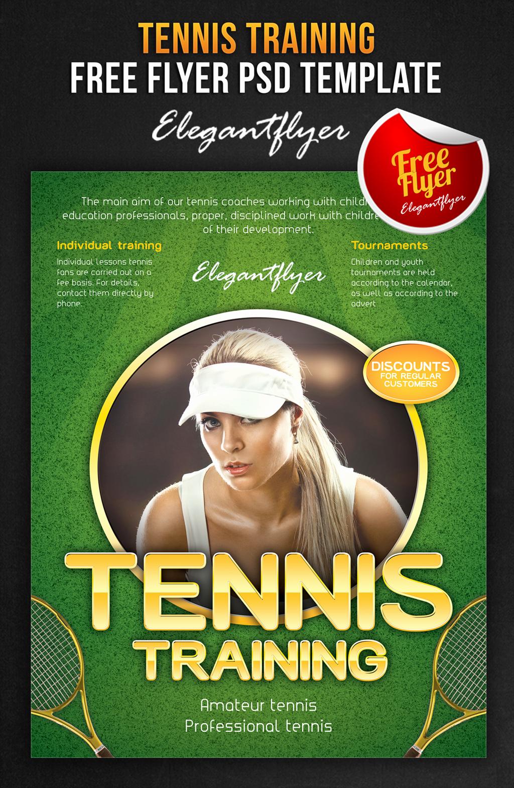 Tennis Flyer Template Free Beautiful Tennis Flyer Template Free Yourweek Aeca25e