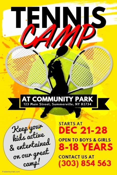 Tennis Flyer Template Free Elegant Copy Of Tennis Camp Poster