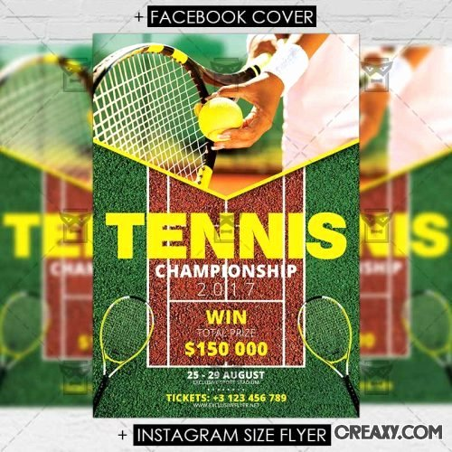 Tennis Flyer Template Free Elegant Tennis Championship – Sport A5 Flyer Template Vector