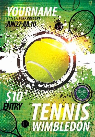 Tennis Flyer Template Free Elegant Tennis Wimbledon Psd Flyer Template 8489 Styleflyers
