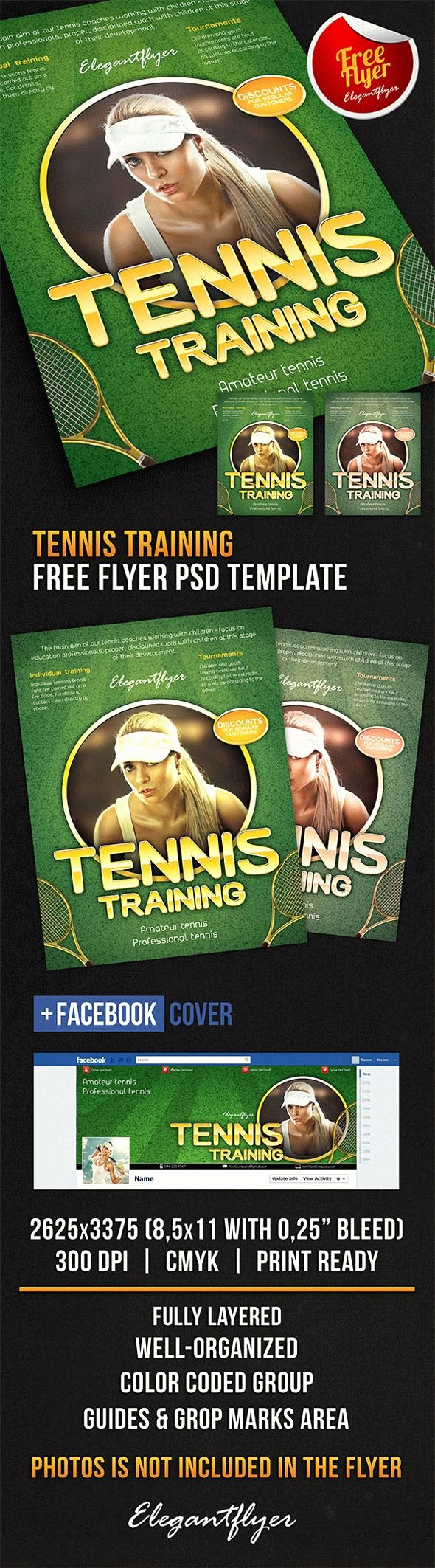 Tennis Flyer Template Free Fresh Tennis Training Free Flyer Psd Template Cover