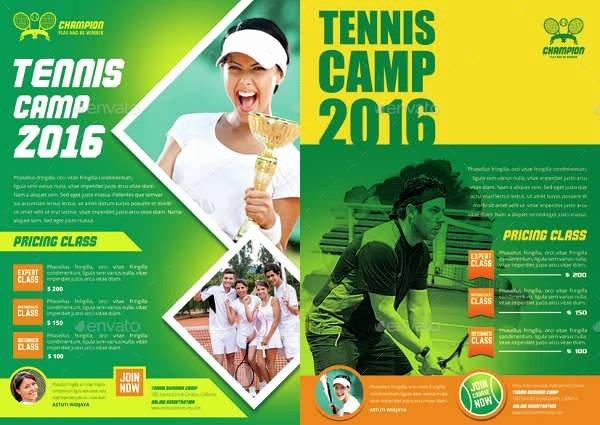 Tennis Flyer Template Free Inspirational 10 Tennis Flyers Printable Psd Ai Vector Eps format