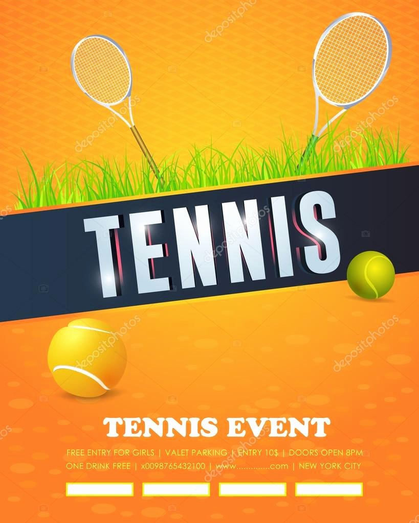 Tennis Flyer Template Free Inspirational Tennis event Flyer or Poster Template Vector Design