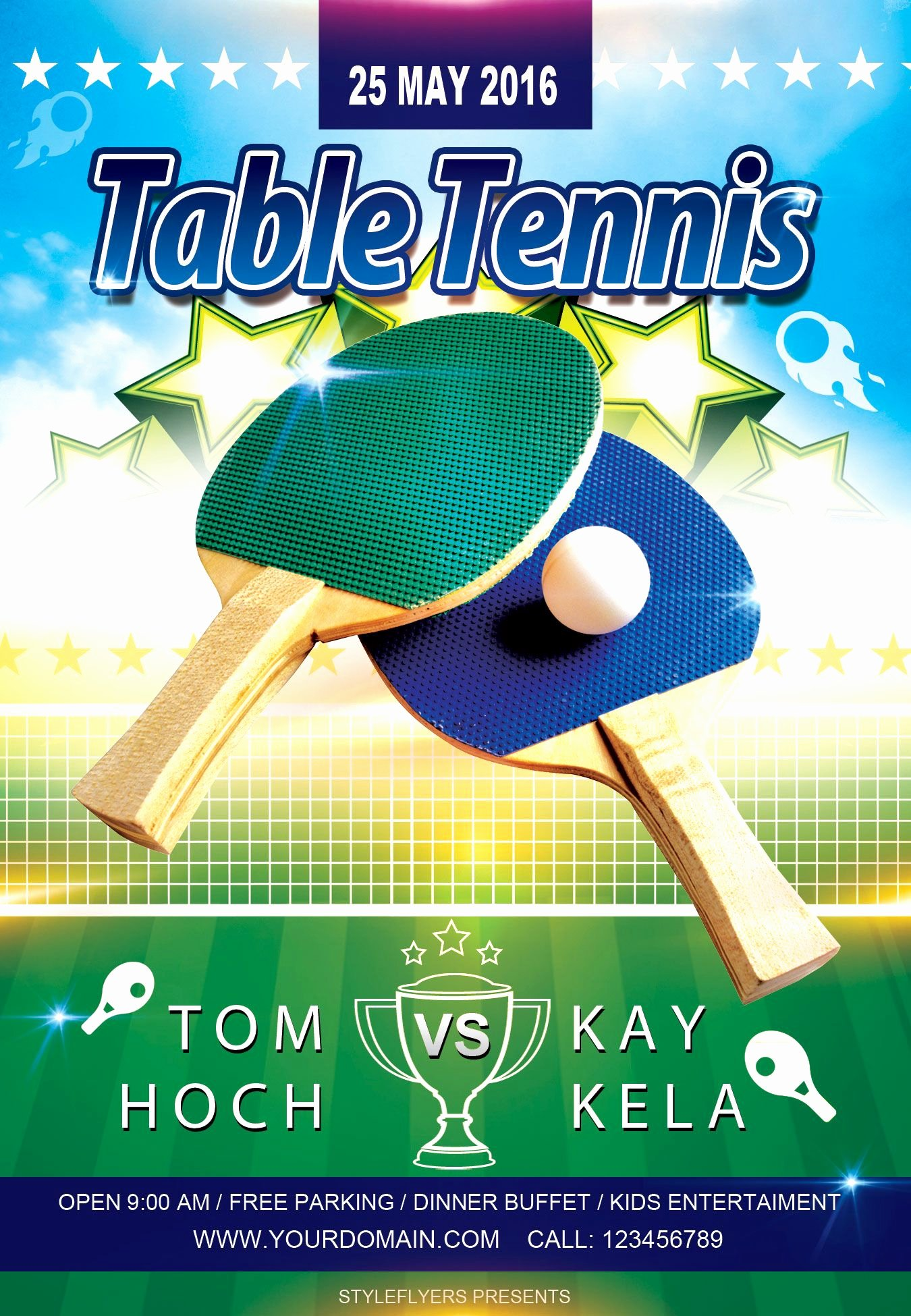 Tennis Flyer Template Free Lovely Free Sport Party Psd Flyer Template by Styleflyers