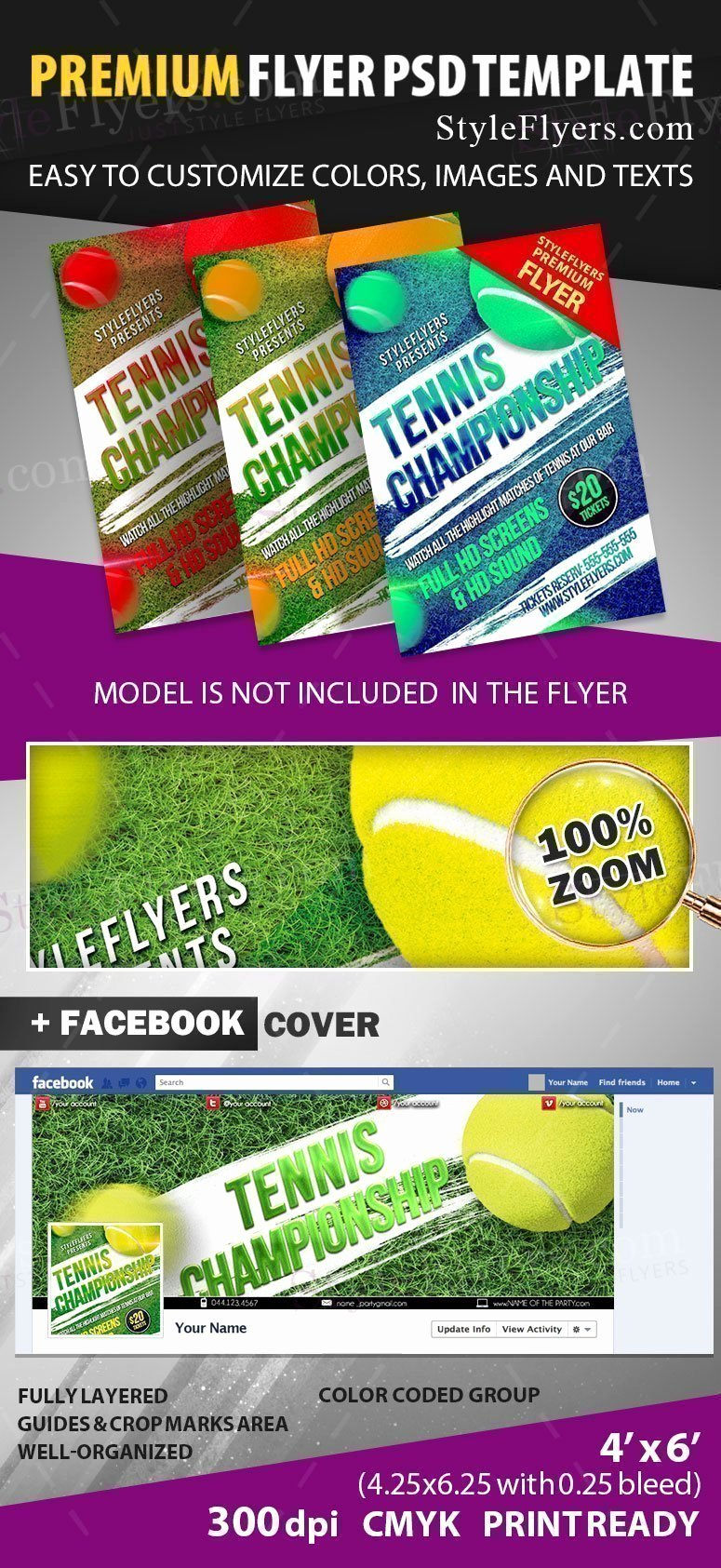 Tennis Flyer Template Free Lovely Tennis Championship Psd Flyer Template Styleflyers