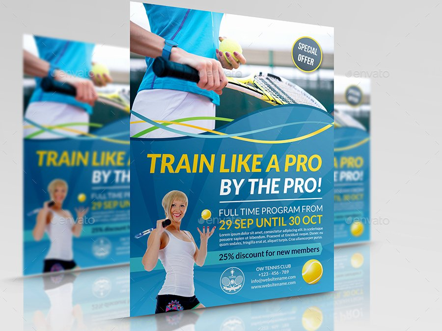 Tennis Flyer Template Free Lovely Tennis Training Flyer Template by Ow