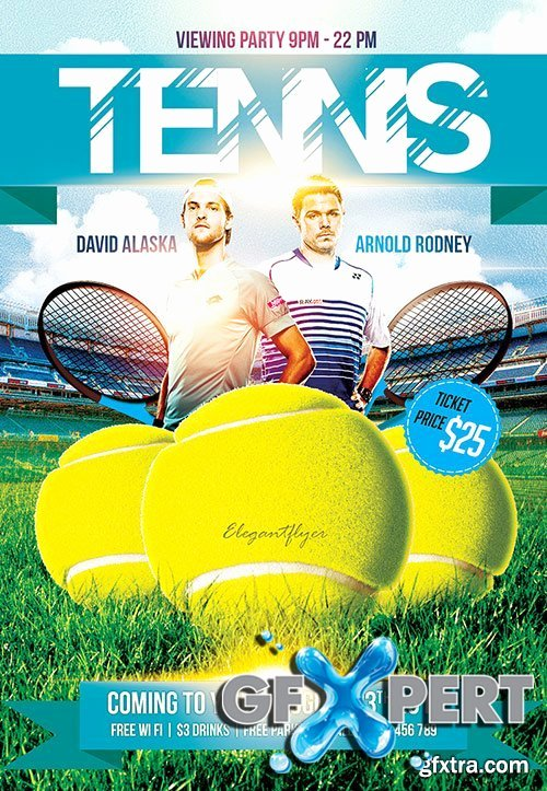 Tennis Flyer Template Free Luxury Free Tennis Game Flyer Psd Template Cover
