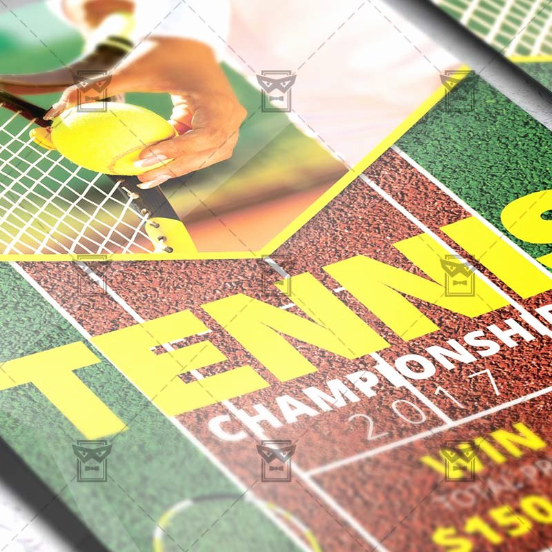 Tennis Flyer Template Free Luxury Tennis Championship – Sport A5 Flyer Template
