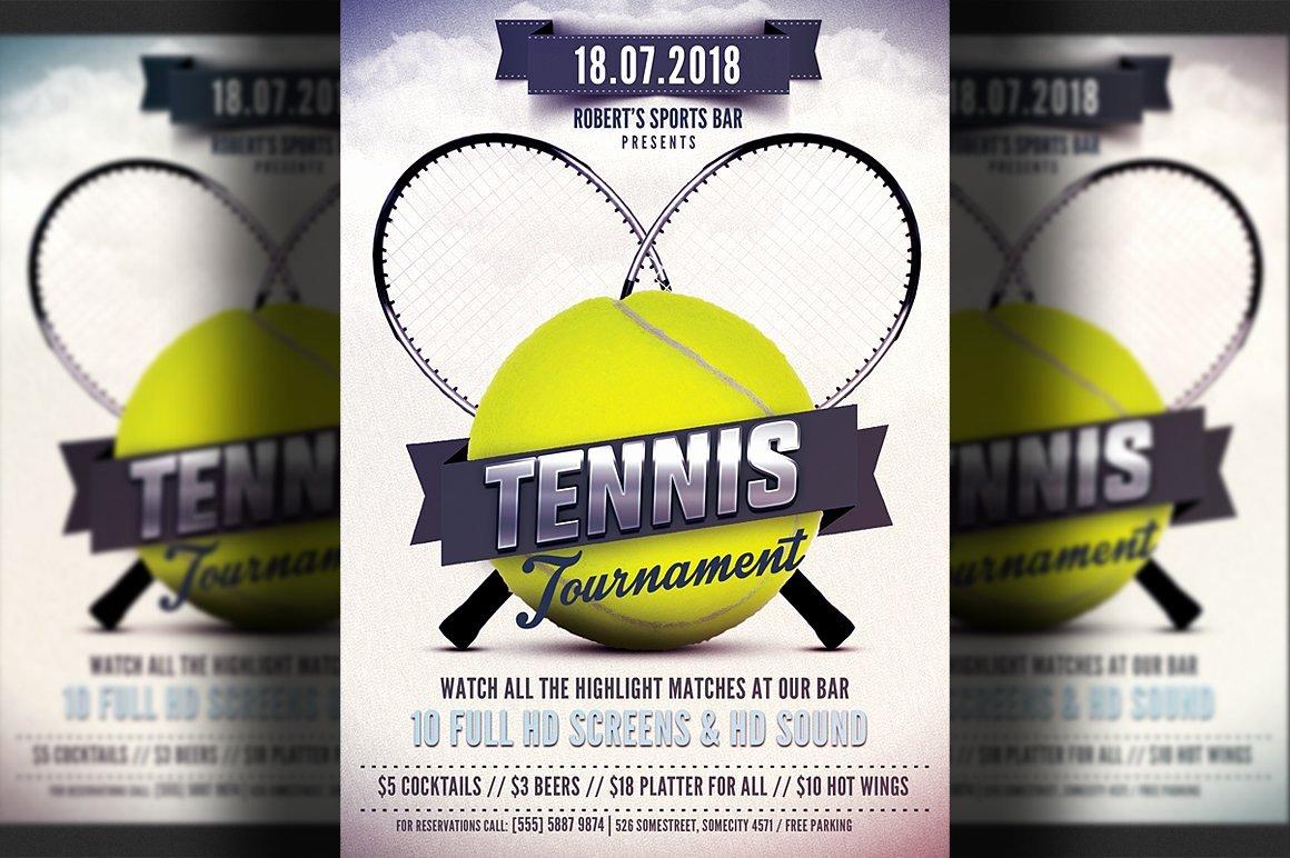 Tennis Flyer Template Free Luxury Tennis Flyer Template Flyer Templates Creative Market