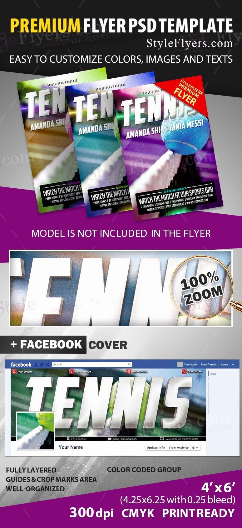 Tennis Flyer Template Free Luxury Tennis Psd Flyer Template Styleflyers