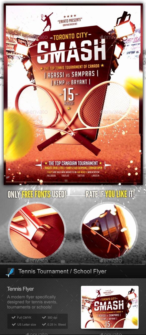 Tennis Flyer Template Free Luxury Tennis tournament School Flyer Template