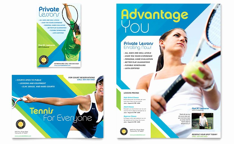 Tennis Flyer Template Free New Tennis Club & Camp Flyer & Ad Template Word & Publisher
