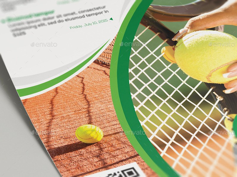 Tennis Flyer Template Free New Tennis Club and Camp Flyer Template by Wutip2