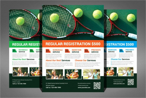 Tennis Flyer Template Free New Tennis Flyer Free Psd Ai Vector Eps for with Tennis Camp