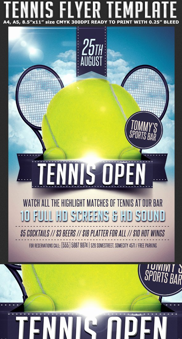 Tennis Flyer Template Free New Tennis Flyer Template