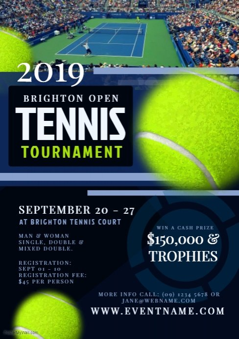 Tennis Flyer Template Free Unique Tennis tournament Flyer Template