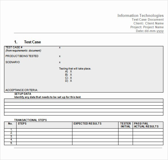Test Case Template Excel Awesome 10 Useful Test Case Templates to Download for Free