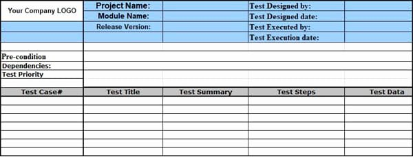 Test Case Template Excel Beautiful Sample Test Case Template with Test Case Examples [download]