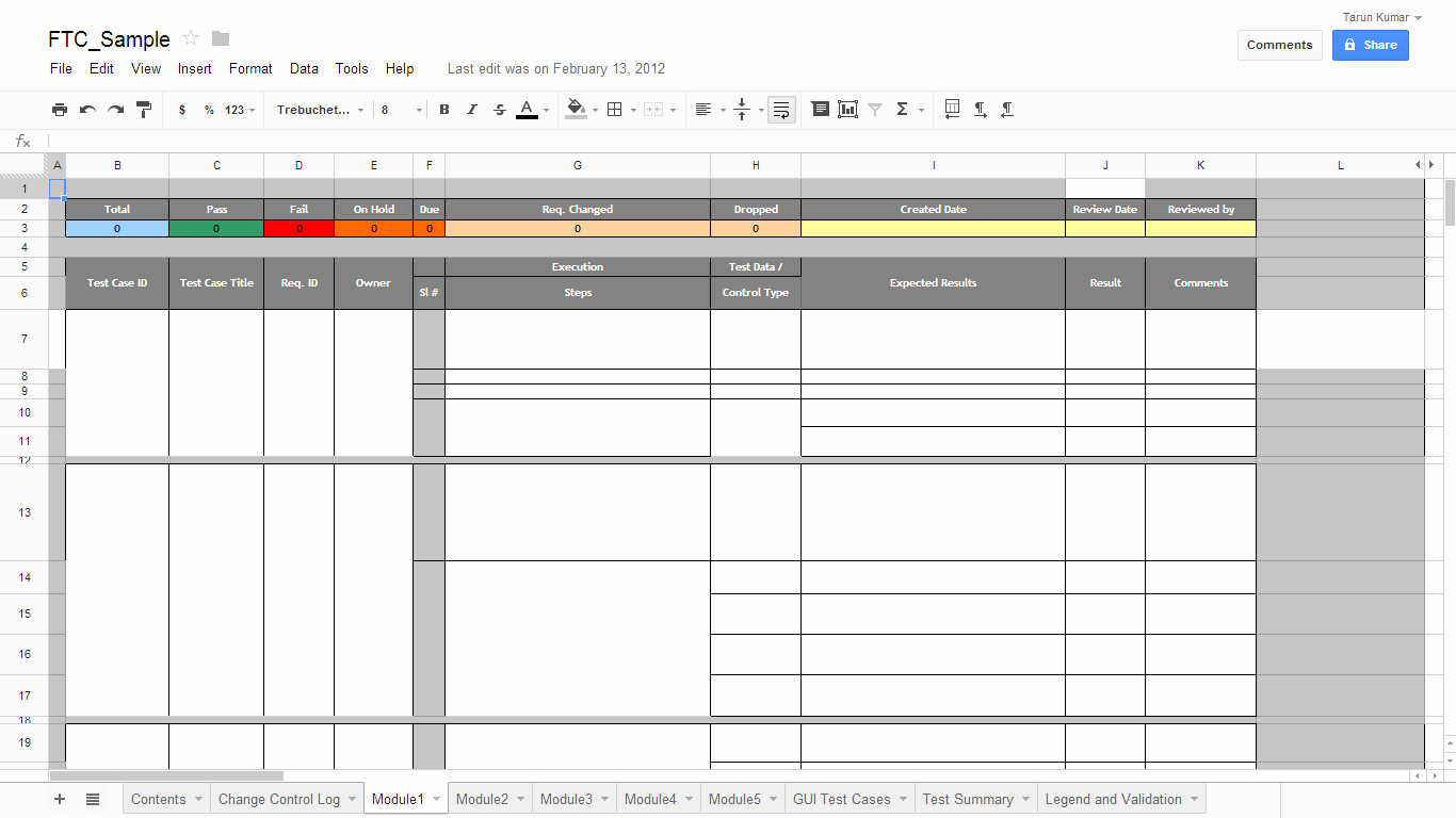 Test Case Template Excel Beautiful Test Case Template