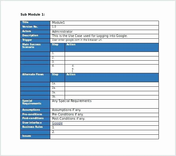 Test Case Template Excel Unique Free Editable Use Test Case Template Ms Word Download