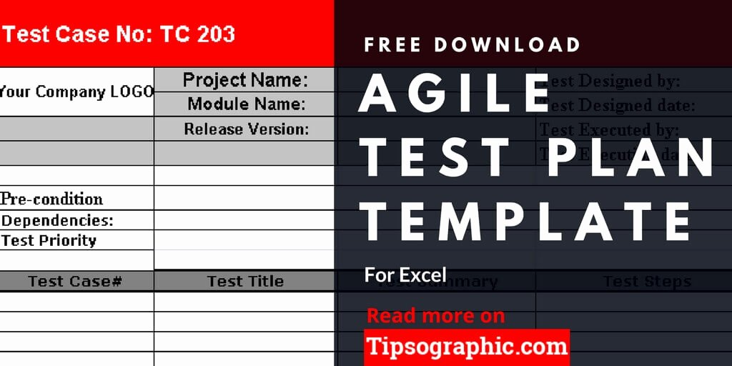 Test Plan Template Excel Fresh Agile Test Plan Template for Excel Free Download