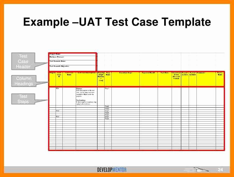 Test Plan Template Excel Luxury Uat Testing Template Excel