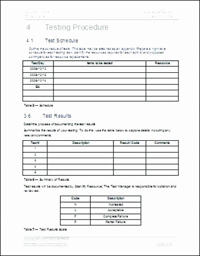 Test Plan Template Pdf Elegant Test Plan Template Example User Acceptance Testing In