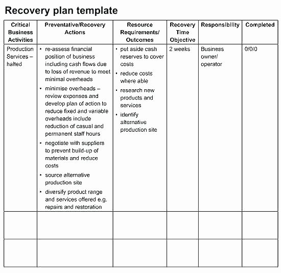 Test Plan Template Pdf Fresh Disaster Recovery Plan Template Pdf – Ddmoon