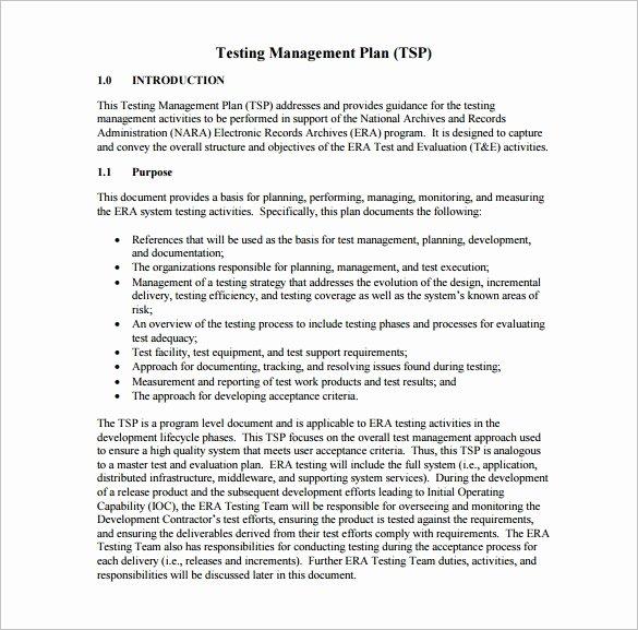 Test Plan Template Pdf Luxury 15 Test Plan Templates Pdf Doc