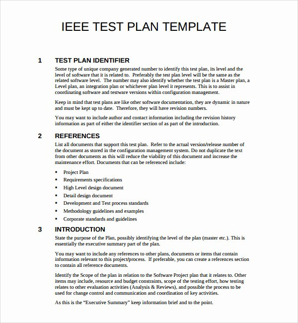 Test Plan Template Pdf Luxury Sample software Test Plan Template Free Documents In Pdf