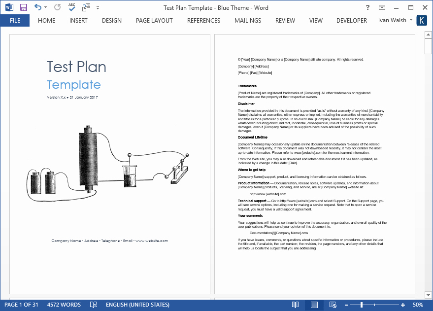 Test Plan Template Word Lovely Test Plan – Download Ms Word & Excel Template