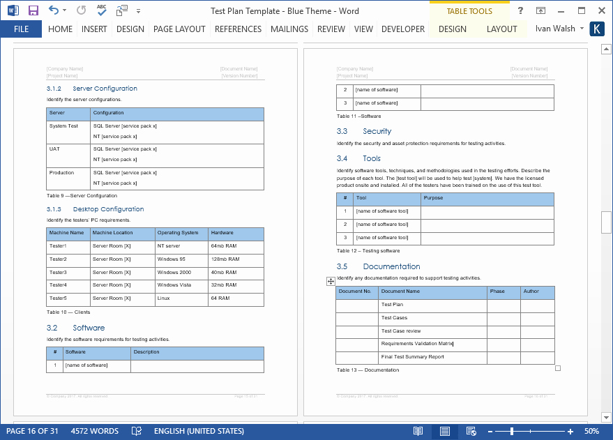 Test Plan Template Word New Test Plan – Download Ms Word & Excel Template
