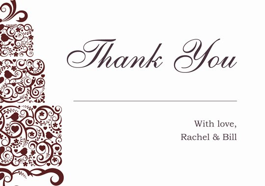 Thank You Card Template Word Awesome Download Printable Kit Wedding Thank You and Response Card