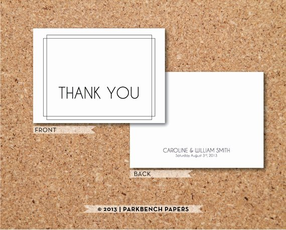 Thank You Card Template Word Best Of Art Deco Thank You Card Diy Editable Word Template Instant