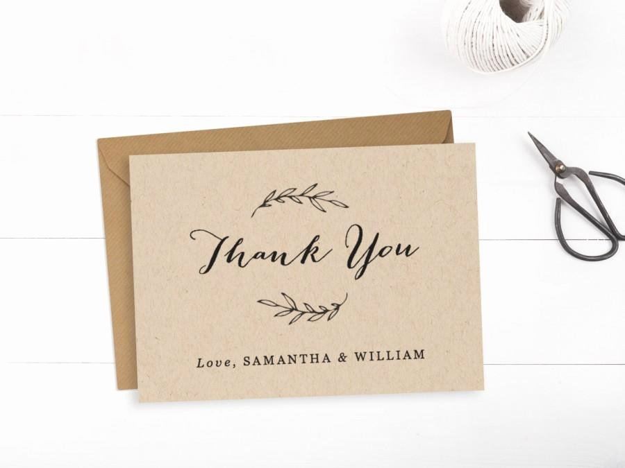 Thank You Card Template Word Best Of Printable Wedding Thank You Card Template Editable Text