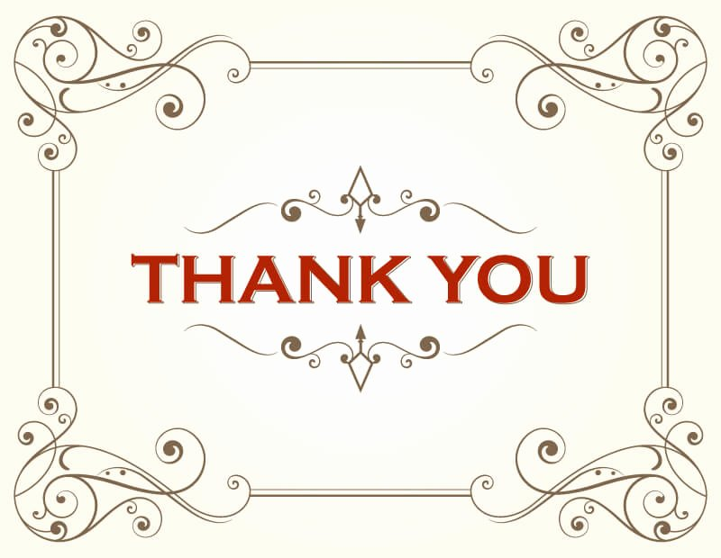 Thank You Card Template Word Best Of Thank You Card Template