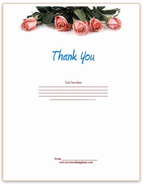 Thank You Card Template Word Best Of Thank You Template