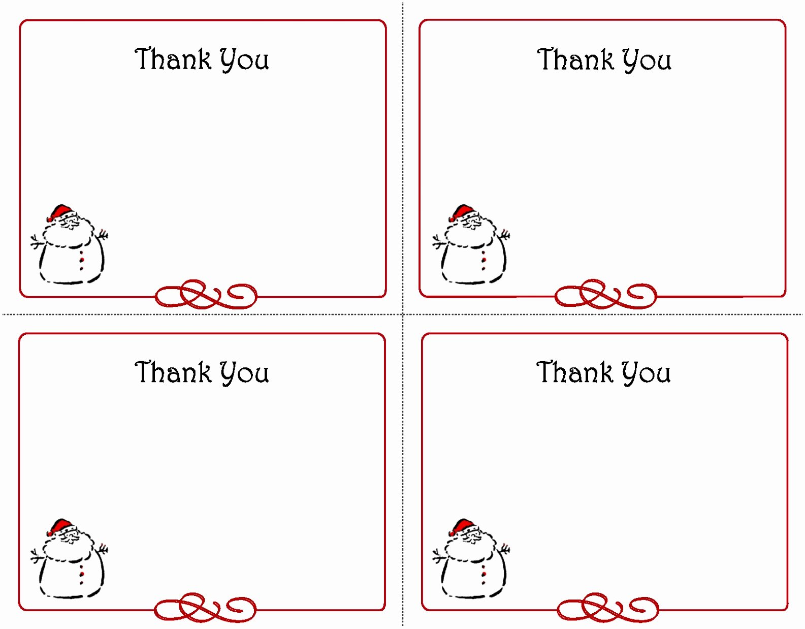 Thank You Card Template Word Fresh 9 Interview Thank You Card Template Oirto