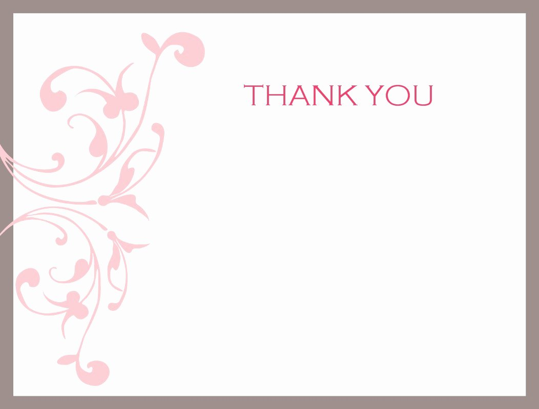 Thank You Card Template Word Inspirational Thank You Card Template