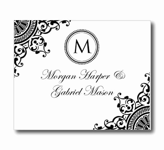 Thank You Card Template Word Inspirational Wedding Thank You Card Template Instant Download by Clearylane