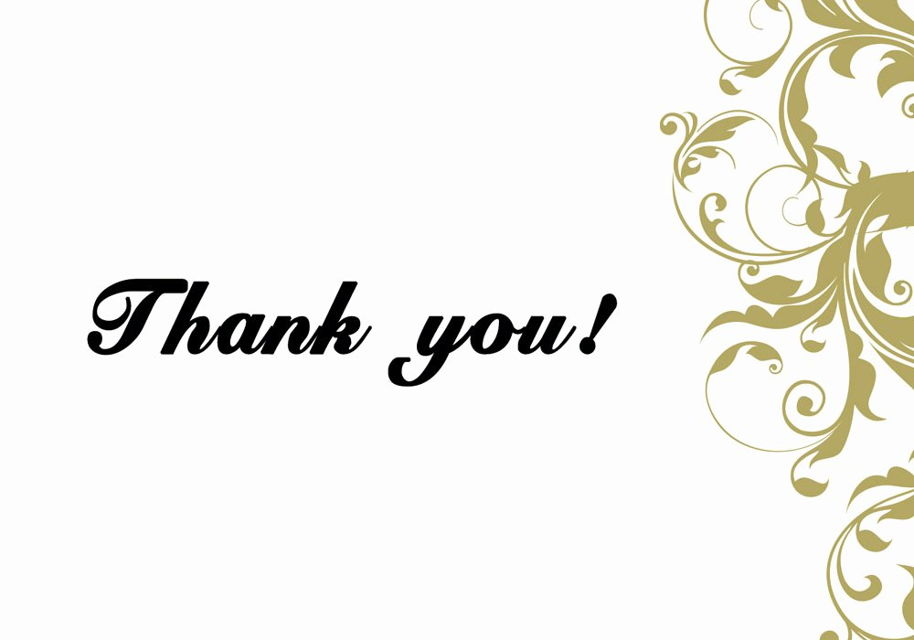 Thank You Card Template Word Lovely 6 Thank You Card Templates Excel Pdf formats