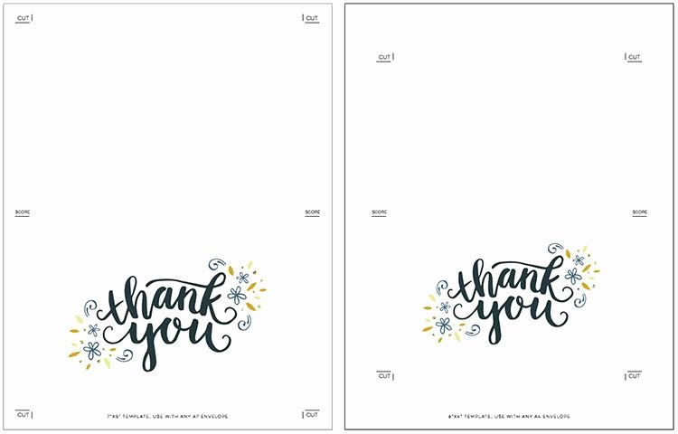 Thank You Cards Template Awesome Free Thank You Card Template