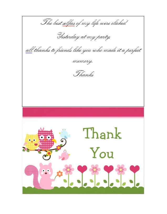 Thank You Cards Template Fresh 30 Free Printable Thank You Card Templates Wedding