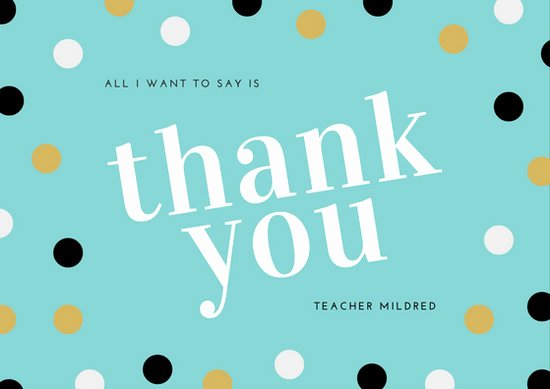 Thank You Cards Template Fresh Thank You Teacher Card Templates Canva