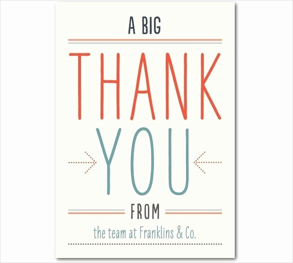 Thank You Cards Template Inspirational Thank You Card Templates Free Sample Example format