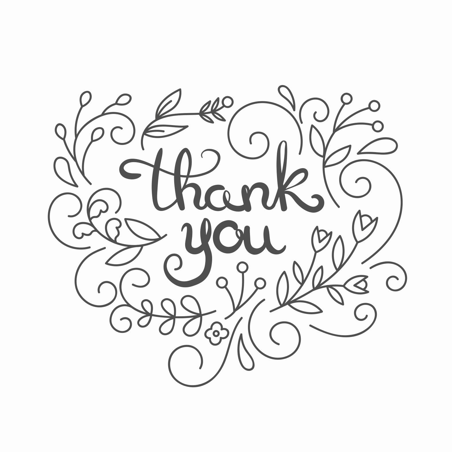 Thank You Cards Template Lovely Simple Swirls Free Thank You Card Template
